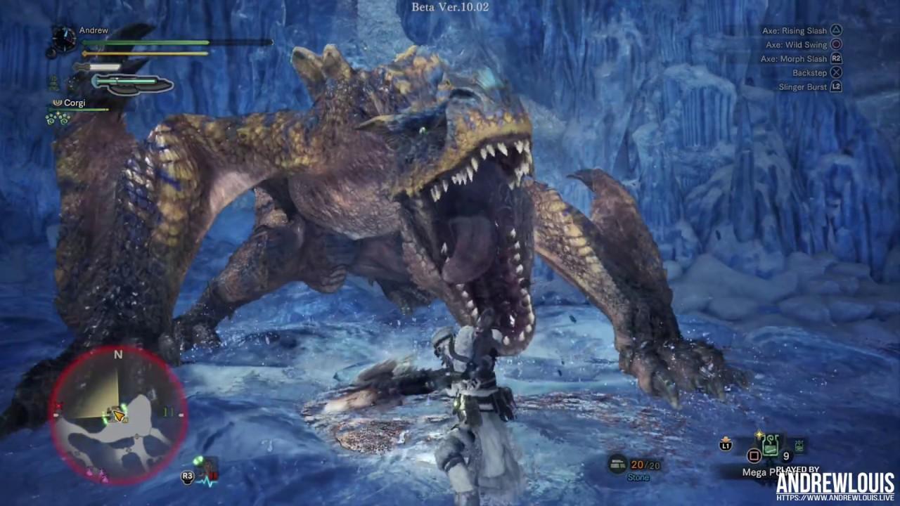 Monster Hunter World Iceborn - 4K Gameplay PS4 Pro 60 FPS