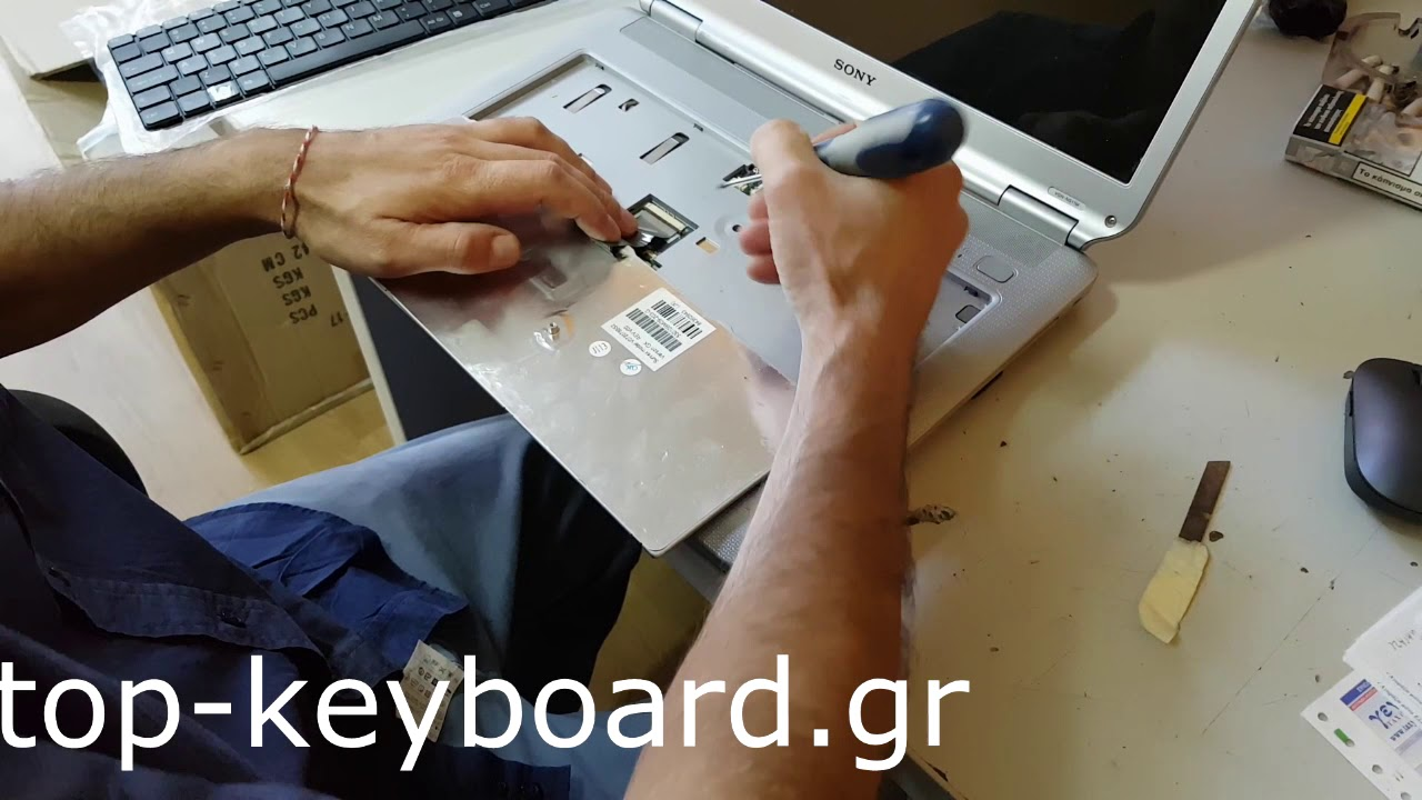 Sony Vaio VGN-NS VGN-NR keyboard replacement – Αλλαγή πληκτρολογίου σε Sony Vaio VGN-NS