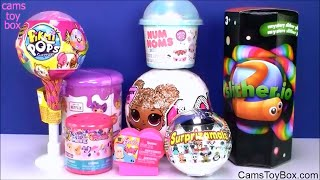 LOL Glitter Surprise Toys Pikmi Pops Num Noms 4 Lalaloopsy Slitherio Surprizamals Holiday Edition Op