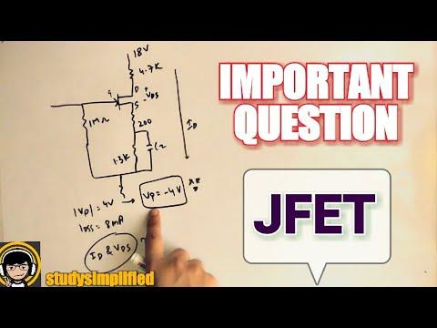 JFET - self bias solved example