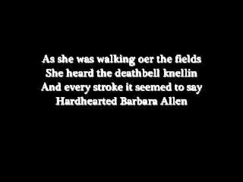 Barbara Allen with lyrics
