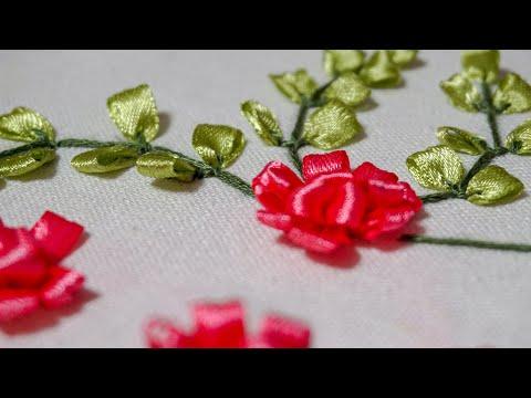 Ribbon Embroidery Tutorial   Flower Design   HandiWorks #41