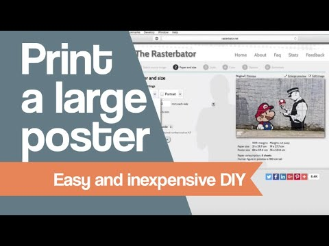 Print a large poster with a home printer. Easy and inexpensive DIY