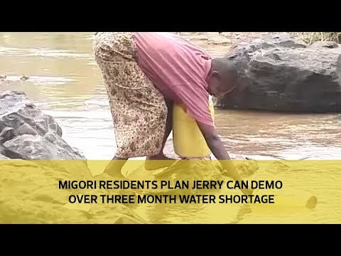 Migori residents plan jerry can demo over three month water shortage