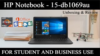 Hp Notebook 15-DB1069AU AMD Ryzen 3 Unboxing amp Review Best For Student And Business Hindi