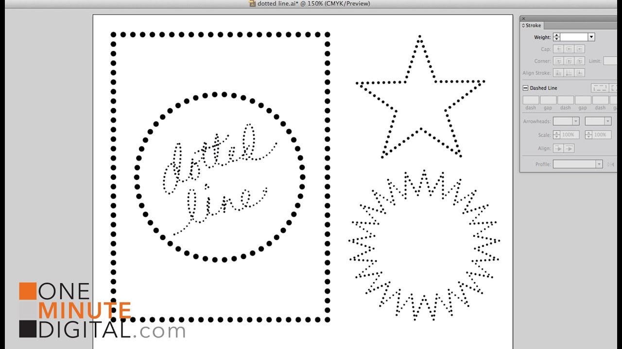 Make Dotted Lines in Illustrator