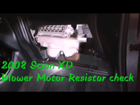 2008 scion xd blower resistor remove check youtube for How to test blower motor resistor