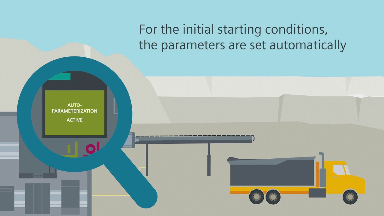hight resolution of softstarter with auto parameterization how to start a conveyor belt as efficiently as possible