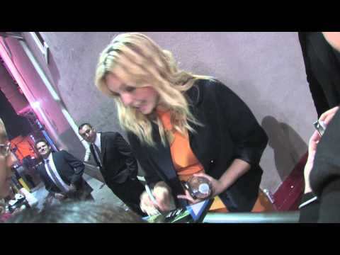February 2nd, 2012  Eloise Mumford leaving Jimmy Kimmel Studios in Hollywood