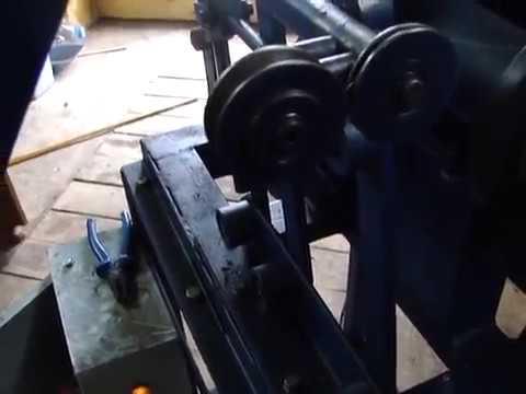 видео: cтанок для намотки проволоки из бухт в катушки