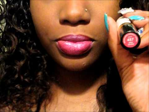 Lip Color Swatches On Lips Brown Dark Skin Tones Youtube