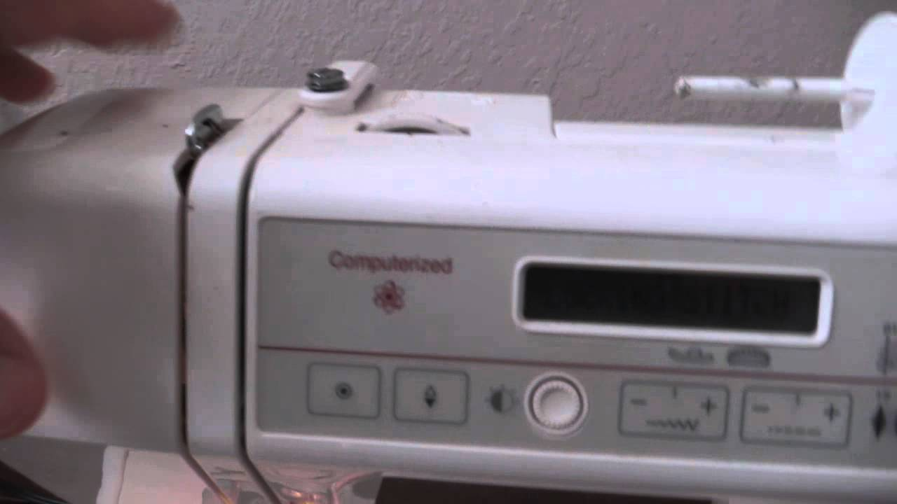 Janome memory craft 3000 sewing machine youtube for Janome memory craft 3000