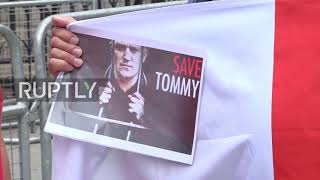 uk tommy robinson supporters protest as jail sentence appeal delayed by judges