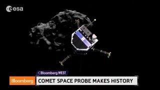 Rosetta Spacecraft Lands Probe on a Comet