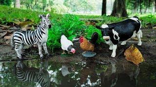 Wild Animals in Farm Lake Water Animal Toys