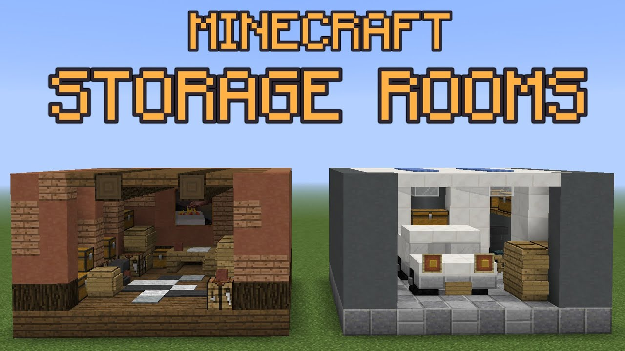 Minecraft Storage Room Ideas! YouTube