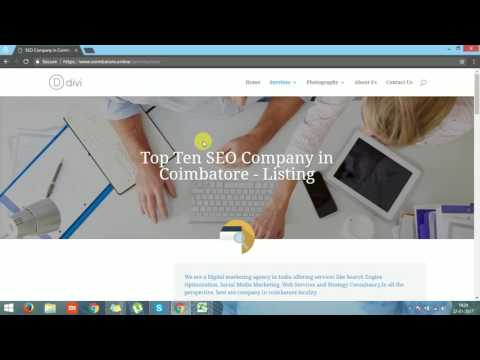 Top Ten Online Services In Coimbatore - An Overview on Coimbatore online