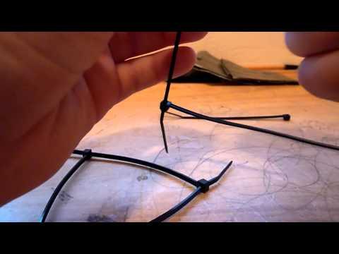 how to make zip tie hand cuffs