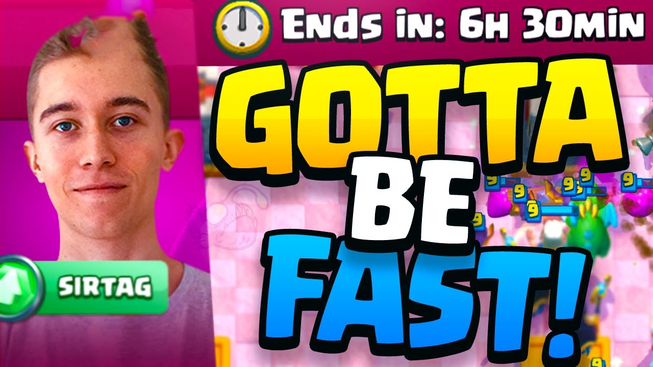 GOTTA BE FAST in SIR TAG'S LAST MINUTE Clash Royale Challenge!!
