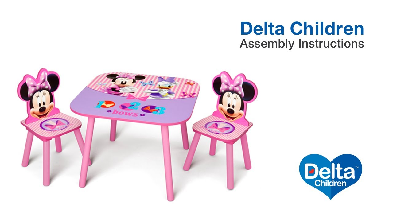 Delta Children Table & Chair Set Assembly Video - YouTube