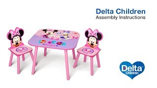 Delta Children Table & Chair Set Assembly Video