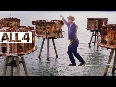 Dangerous Highlining Across Rusty Offshore Military Bases | Britain's Abandoned Playgrounds