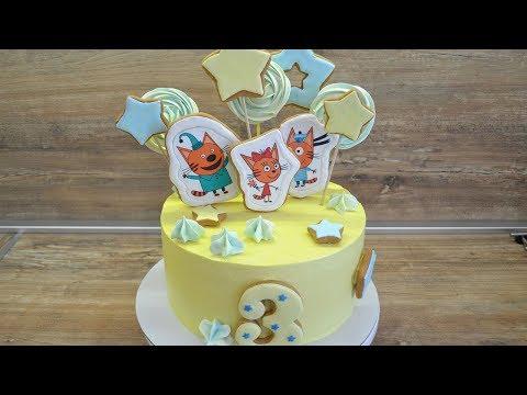 Пряничные топперы для торта/ Детский торт / Как приклеить сахарную картинку