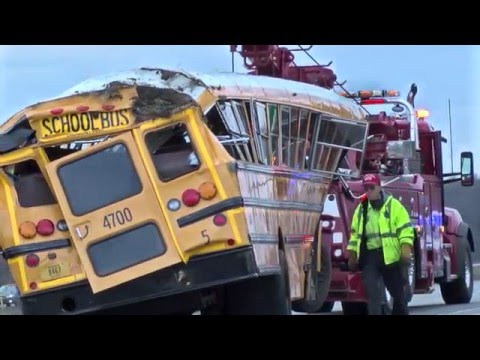 Griffith High School bus rollover