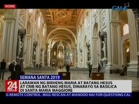 24 Oras: Larawan ng Birheng Maria at batang Hesus, dinarayo sa Basilica Di Santa Maria Maggiore
