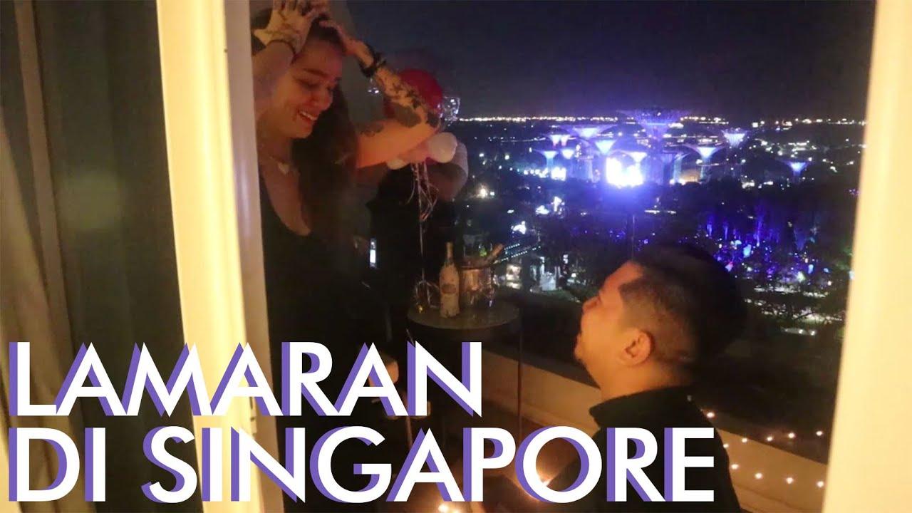 Lamaran Di Singapore #AwesomeFamily Sheila Marcia, Dmust Akira