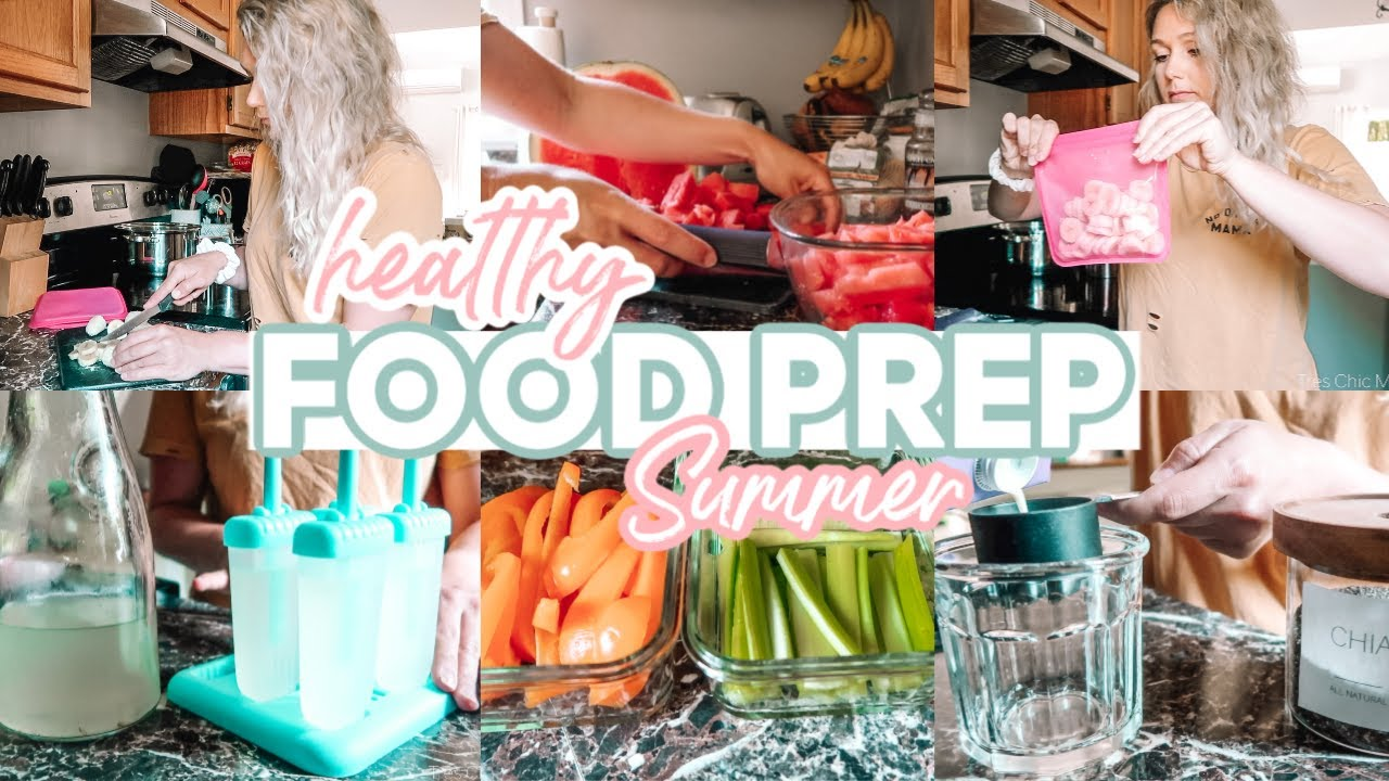 HEALTHY SUMMER FOOD PREP 2020| MAKING LIFE EASIER AS A SINGLE MOM| Tres Chic Mama