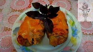 Куриные шкурки с начинкой, рецепт с рисом и грибами