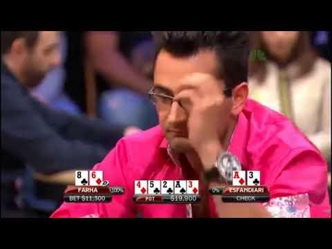 Heads up poker Sam Farha and Antonio Esfandiari