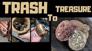 Trash To Treasure - Odd Copper Pieces - Aluminium Bronze & Copper Coins From Scrap