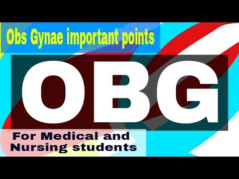 OBSTETRICS AND GYNECOLOGY IMPORTANT POINTS I MEDICAL AND NURSING STUDENTS  STAFF NURSE