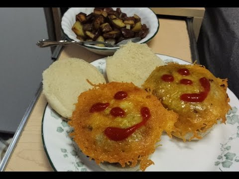 RV Grilling - Mushroom/Onion Stuffed Burgers ~ Cheese Hat !