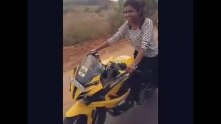 Lady Biker in Hyderabad
