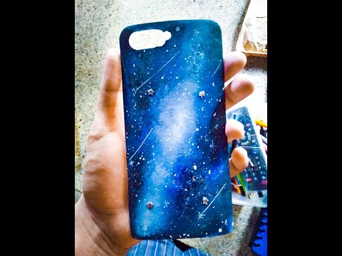 DIY Watercolor Galaxy Phone Case