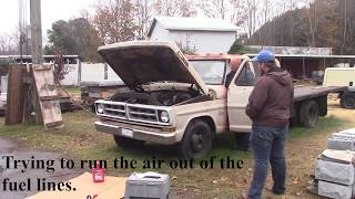 Starting and Driving the Old Ford Truck After Many Years of Sitting! 1971 Ford F-350