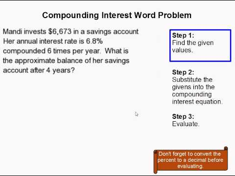 Printables Compound Interest Word Problems Worksheet vote no on solving compound interest probl how to solve a compounding word problem