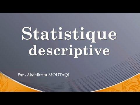 statistiques descriptive ( en darija )