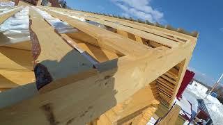 как сделать крышу деревянного дома