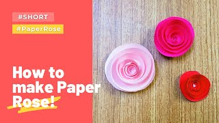 Paper Rose Flower DIY - Very Easy #Shorts