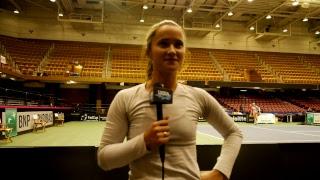Exclusive Fed Cup Interview with #TeamUSATennis' Lauren Davis