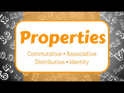Properties: Commutative, Associative, Distributive, and Identity