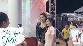Châu Ngọc Tiên chụp hình cùng fans hâm mộ quẫy tưng bừng tại Gò Công công ty Shilla Glovis