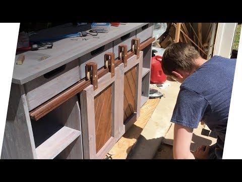 Making A Sliding Barn Door TV Console
