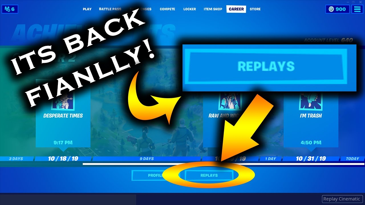 Fortnite Chapter 2 Replay Mode Fortnite New Replay Mode Is Back How To View Replays In Fortnite Youtube