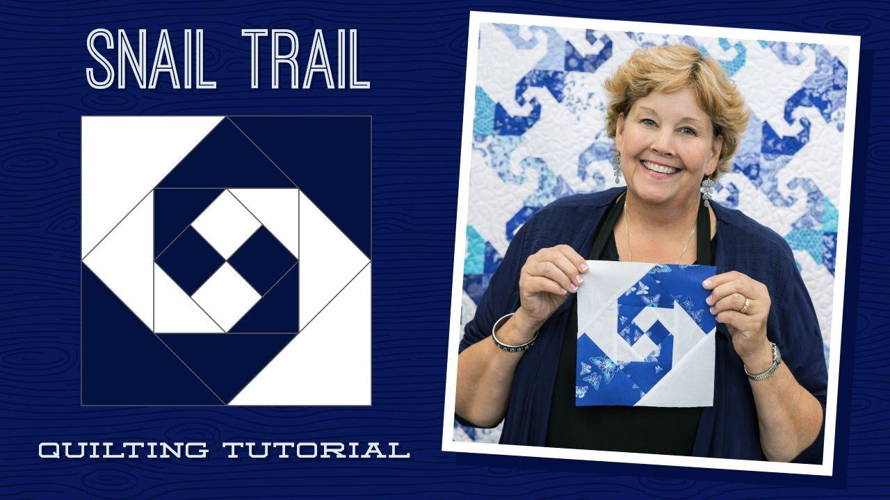 Make A Snail Trail Quilt With Jenny Doan Of Missouri Star