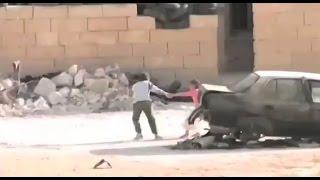 SYRIA! SYRIAN HERO BOY rescue girl in shootout  الطفل السوري البطل